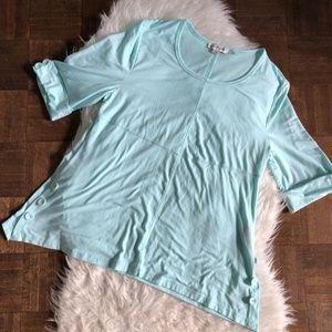 Simply Noelle XXL 16/18 Light Blue Tunic T Shirt